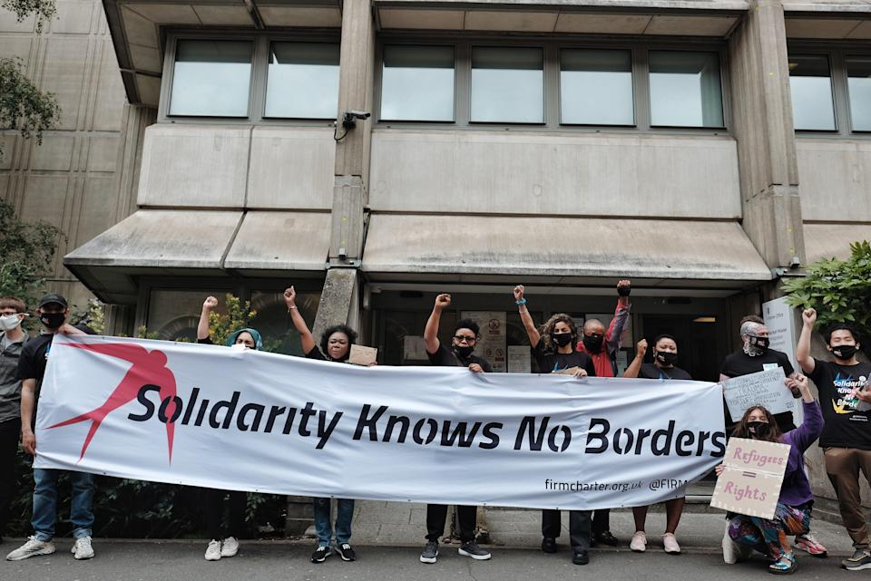 Campaigners called for an end to 'inhuman' treatment of migrants (Angela Christofilou)