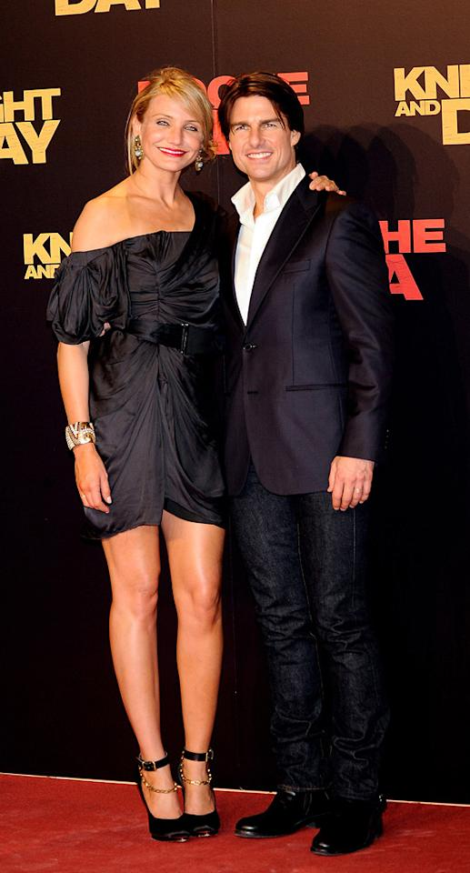 "<a href=""http://movies.yahoo.com/movie/contributor/1800020297"">Cameron Diaz</a> and <a href=""http://movies.yahoo.com/movie/contributor/1800015725"">Tom Cruise</a> at the Spanish premiere of <a href=""http://movies.yahoo.com/movie/1810115368/info"">Knight and Day</a> - 06/16/2010"