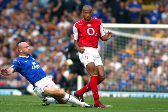 Thierry Henry, right, enjoyed a successful playing career with numerous clubs, including Arsenal