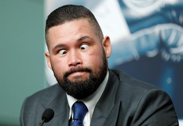 Boxing - Tony Bellew & David Haye Press Conference - London, Britain - February 21, 2018 Tony Bellew during the press conference Action Images via Reuters/Matthew Childs