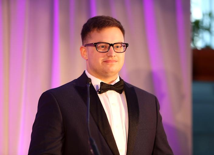 Ryan Karnoski speaks at the Lambda Legal 2018 West Coast Liberty Awards at the SLS Hotel on June 7, 2018 in Beverly Hills, California.  (Randy Shropshire/Getty Images for Lambda Legal)