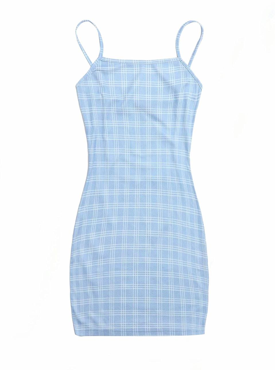 """This plaid mini dress comes in a long list of colors and patterns, all of which serve big <a href=""""https://www.glamour.com/story/how-to-dress-90s?mbid=synd_yahoo_rss"""" rel=""""nofollow noopener"""" target=""""_blank"""" data-ylk=""""slk:Cher Herowitz energy"""" class=""""link rapid-noclick-resp"""">Cher Herowitz energy</a>. $10, Amazon. <a href=""""https://www.amazon.com/Floerns-Womens-Plaid-Bodycon-Yellow/dp/B08MX2T6PZ/"""" rel=""""nofollow noopener"""" target=""""_blank"""" data-ylk=""""slk:Get it now!"""" class=""""link rapid-noclick-resp"""">Get it now!</a>"""