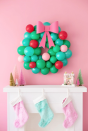 "<p>Add a pop of color and whimsical fun with this charming <a href=""https://www.countryliving.com/diy-crafts/how-to/g1056/diy-wreath-ideas/"" rel=""nofollow noopener"" target=""_blank"" data-ylk=""slk:DIY Christmas wreath"" class=""link rapid-noclick-resp"">DIY Christmas wreath</a> made out of balloons. Let your little ones help you for a kid-approved Christmas decoration in their rooms.</p><p><strong>Get the tutorial at <a href=""https://studiodiy.com/2017/11/27/diy-christmas-balloon-wreath/"" rel=""nofollow noopener"" target=""_blank"" data-ylk=""slk:Studio DIY"" class=""link rapid-noclick-resp"">Studio DIY</a>.</strong></p><p><strong><a class=""link rapid-noclick-resp"" href=""https://www.amazon.com/Tatuo-Macrame-Patricks-Memorial-Decoration/dp/B07K8KN6XC/ref=sr_1_3?tag=syn-yahoo-20&ascsubtag=%5Bartid%7C10050.g.5030%5Bsrc%7Cyahoo-us"" rel=""nofollow noopener"" target=""_blank"" data-ylk=""slk:SHOP WREATH FRAME"">SHOP WREATH FRAME</a><br></strong></p>"