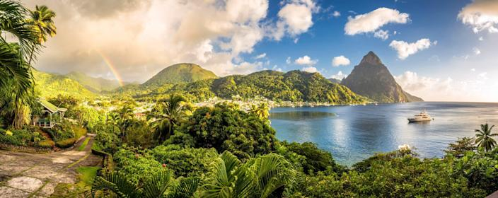 If you're headed for Saint Lucia, pack your hiking boots because the UNESCO-listed Pitons are not to be missed.