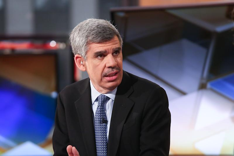 "NEW YORK, NY - APRIL 29: Mohamed El-Erian, Chief Economic Adviser of Allianz appears on a segment of ""Mornings With Maria"" with Maria Bartiromo on the FOX Business Network at FOX Studios on April 29, 2016 in New York City. (Photo by Rob Kim/Getty Images)"