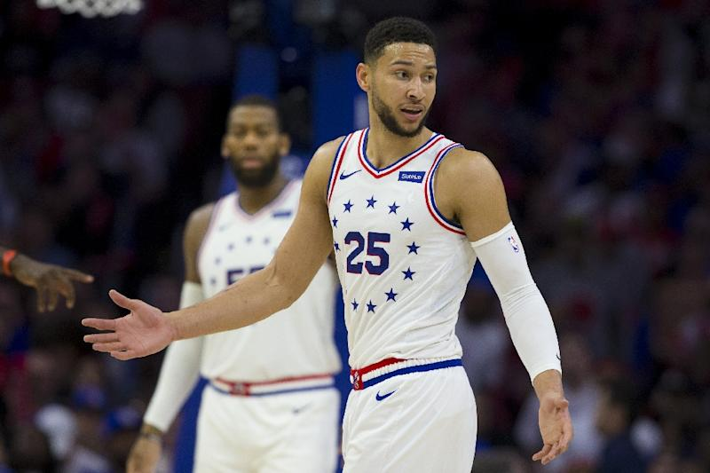 Ben Simmons #25 of the Philadelphia 76ers is in Australia's Wolrd Cup squad named Thursday