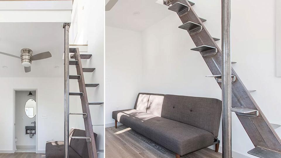 The terrifying stairs did not have any railing and people imagined they could injure themselves on them. Source: Zillow