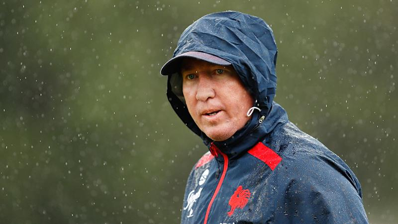 Pictured here, Sydney Roosters coach Trent Robinson.