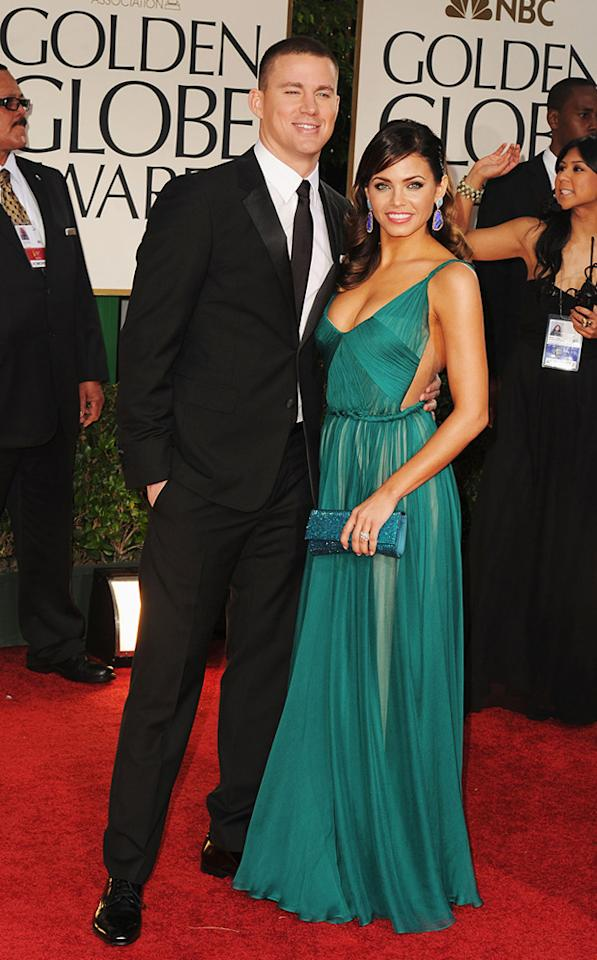 Channing Tatum and Jenna Dewan arrive at the 69th Annual Golden Globe Awards in Beverly Hills, California, on January 15.