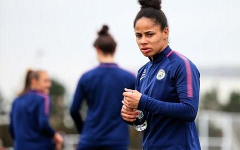 <span>Nikita will be turning out for Manchester City in the Women's Champions League semi-final first leg against Lyon</span> <span>Credit: MANCHESTER CITY FC </span>
