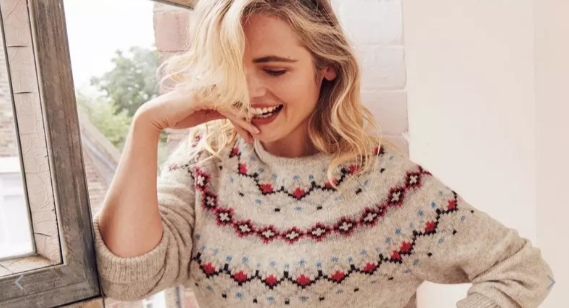 "Shoppers have spotted an ""rude"" design on a FatFace jumper [Image: FatFace]"