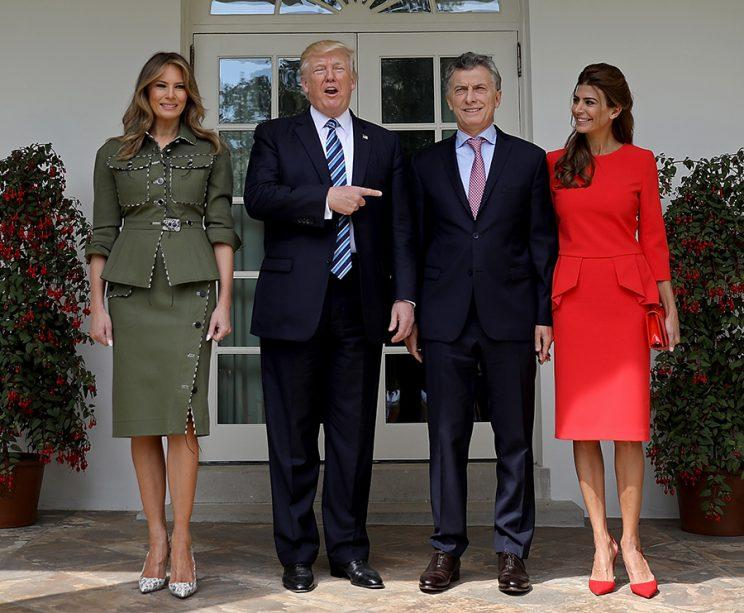 The U.S. and Argentine first couples.