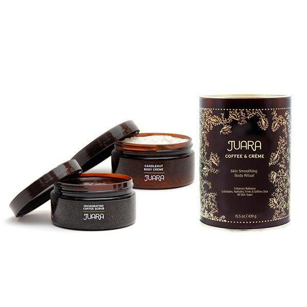 """<a href=""""https://www.ahalife.com/product/149000047836/coffee-creme-skin-smoothing-ritual"""" target=""""_blank"""">Shop it here</a>."""