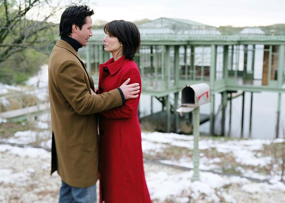 "<p>Bullock and Reeves reunited again for this 2007 sleeper hit (their first was <em><a href=""https://www.amazon.com/Speed-Keanu-Reeves/dp/B000I9W0I8/?tag=syn-yahoo-20&ascsubtag=%5Bartid%7C10063.g.36311669%5Bsrc%7Cyahoo-us"" rel=""nofollow noopener"" target=""_blank"" data-ylk=""slk:Speed"" class=""link rapid-noclick-resp"">Speed</a></em>). But this time, instead of falling in love on an ill-fated bus ride through Los Angeles, a special lake house is at the center of this moving story. Essentially, Reeves and Bullock are pen pals, separated not just by space but also time. She's in the year 2006 and he, in the future, in 2008. While the idea of two strangers writing love letters to each other is promising enough to earn a top 10 placement, the confusing time travel element is why it doesn't rank higher. </p><p><a class=""link rapid-noclick-resp"" href=""https://www.amazon.com/Lake-House-Keanu-Reeves/dp/B000K8EQ5W/?tag=syn-yahoo-20&ascsubtag=%5Bartid%7C10063.g.36311669%5Bsrc%7Cyahoo-us"" rel=""nofollow noopener"" target=""_blank"" data-ylk=""slk:WATCH NOW"">WATCH NOW</a></p>"