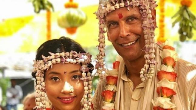 Milind Soman and Ankita Konwar tied the knot at Alibaug today.