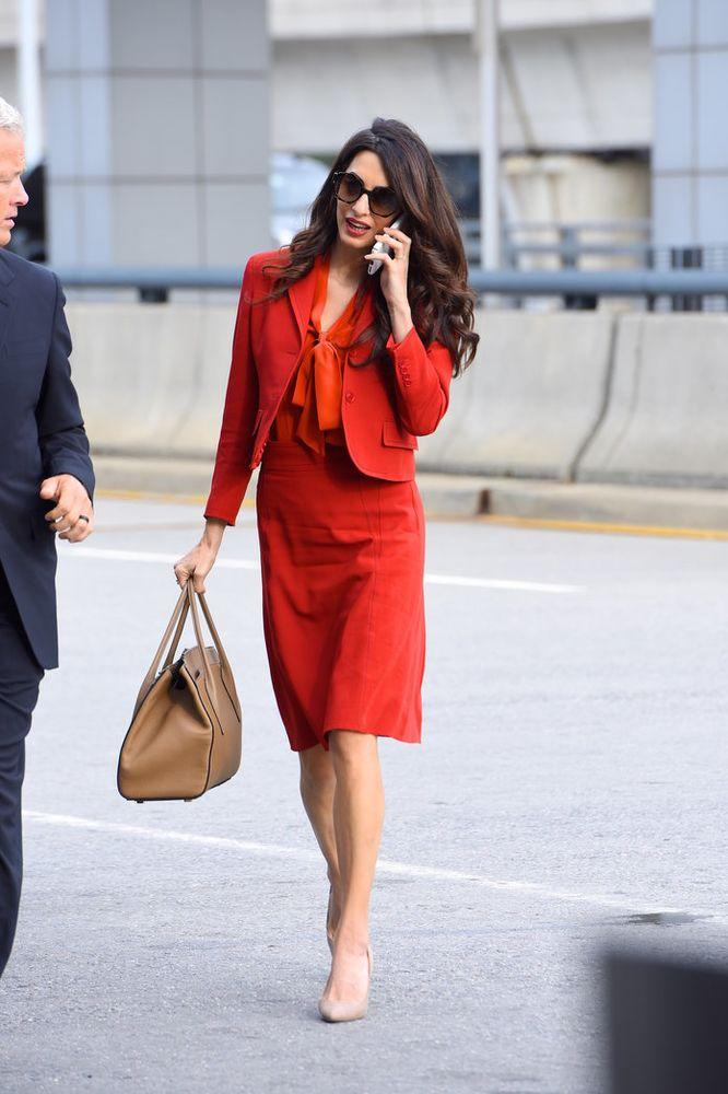 This Is Definitely Amal Clooney's Workwear Power Color