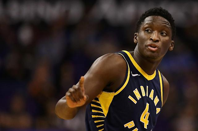 Victor Oladipo scored a team-high 25 points for the Indiana Pacers, who have won two in a row and four of five (AFP Photo/Christian Petersen)