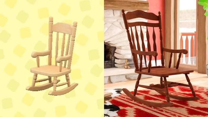 No home—virtual or real—is complete without a comfy rocking chair.