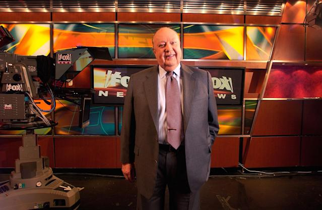 <p>Fox News CEO Roger Ailes poses at network headquarters in New York prior to his resignation in September 2016. His announcement came amid charges by former anchor Gretchen Carlson, who claims she was fired after refusing his sexual advances. (Photo: Jim Cooper/AP) </p>