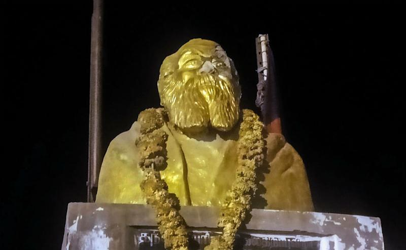 On late Tuesday night, statue of EV Ramasamy, commonly known as 'Periyar', was vandalised in Tamil Nadu's Vellore district. The police later arrested two people in relation to the crime. The act of vandalism came just hours after BJP leader in Tamil Nadu H Raja tweeted encouraging vandalism of Periyar statues.