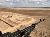 A view shows an Iraqi border outpost along the frontier with Syria