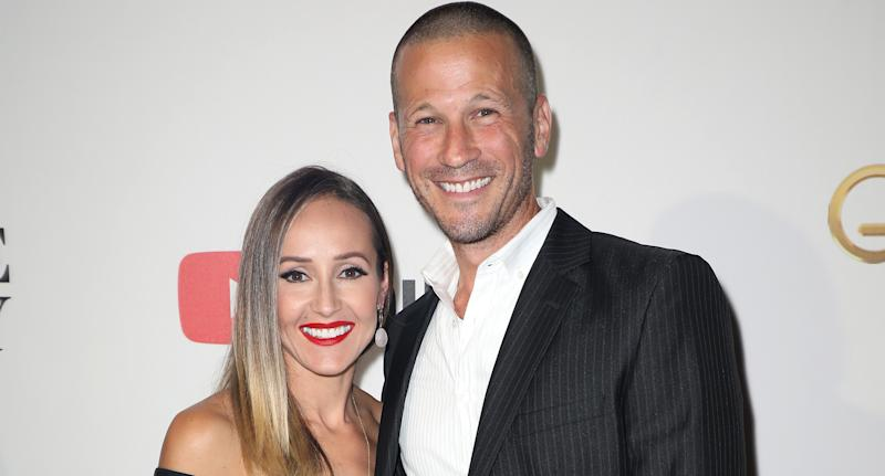 Ashley Hebert and husband J.P. Rosenbaum. Image via Getty Images.