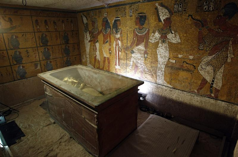 View of King Tutankhamun's burial chamber in Luxor (AFP Photo/Cris Courncle)