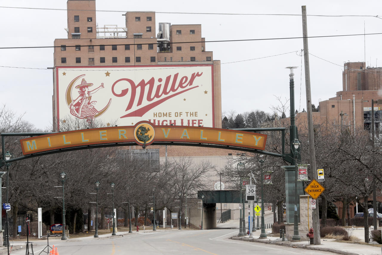 FILE - In this Feb. 27, 2020, file photo, the Molson Coors facility is seen in Milwaukee. Someone placed a noose several years ago on the locker of Anthony Ferrill, a Wisconsin brewery employee who last week opened fire on his co-workers, the brewery operator said Wednesday, March 4, 2020, confirming at least one instance of racial harassment against him as police continue to piece together his motive. (AP Photo/Morry Gash, File)