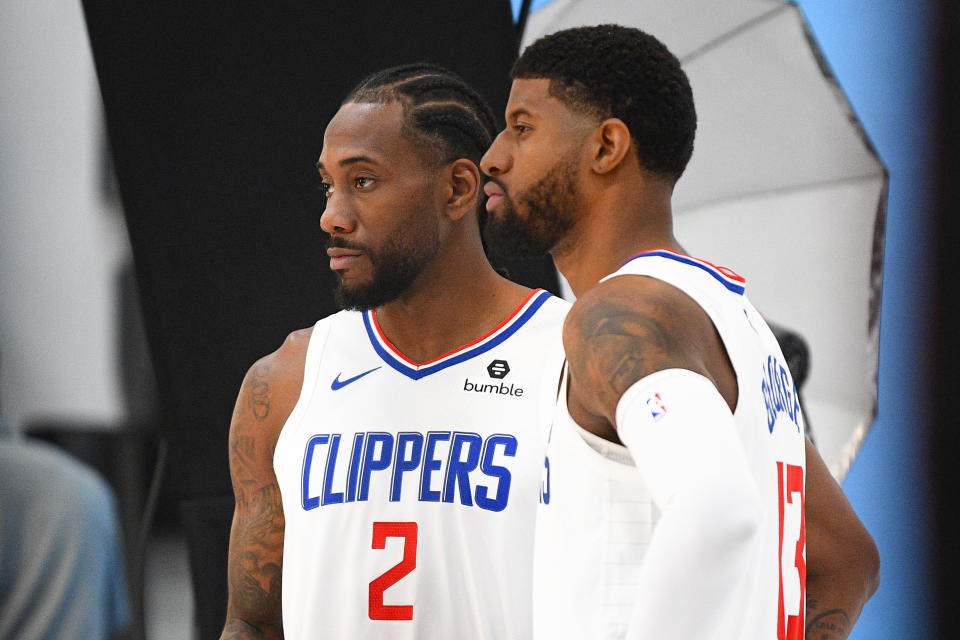 The clock is already ticking on the Kawhi Leonard-Paul George era on the Clippers. (Getty Images)