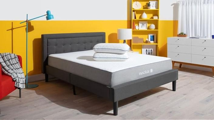 This headboard and bed frame combo is surprisingly affordable.