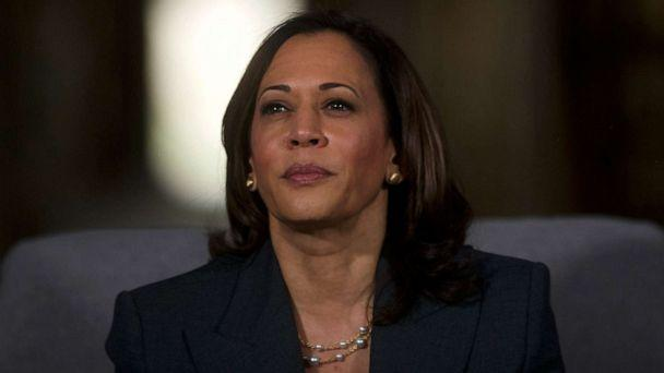 PHOTO: Democratic Presidential candidate, Sen. Kamala Harris, D-CA, speaks during a town hall at the Eastern State Penitentiary in Philadelphia, Oct. 28, 2019. (Mark Makela/Getty Images, FILE)