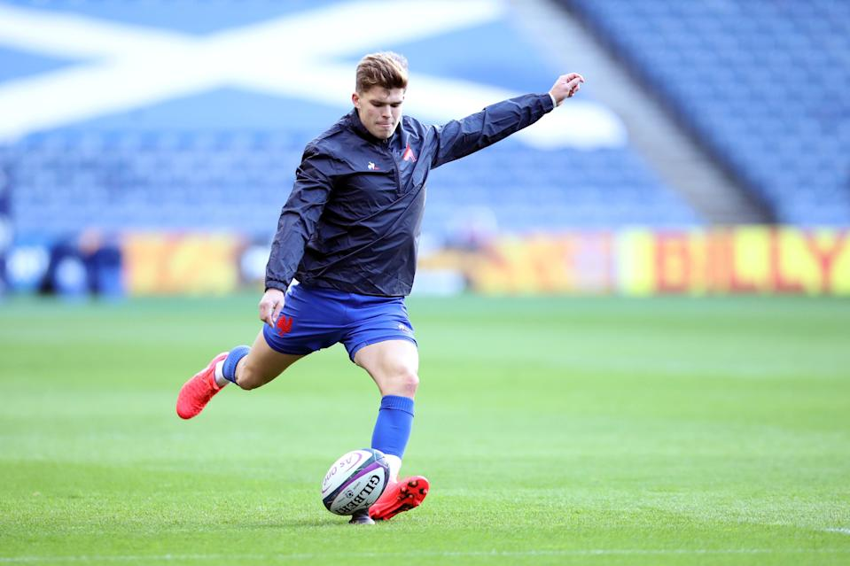 <p>Matthieu Jalibert starts at fly-half for France against Italy</p> (Getty)