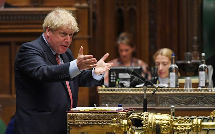 Prime Minister Boris Johnson at the House of Commons in London - UK Parliament/Jessica Taylor