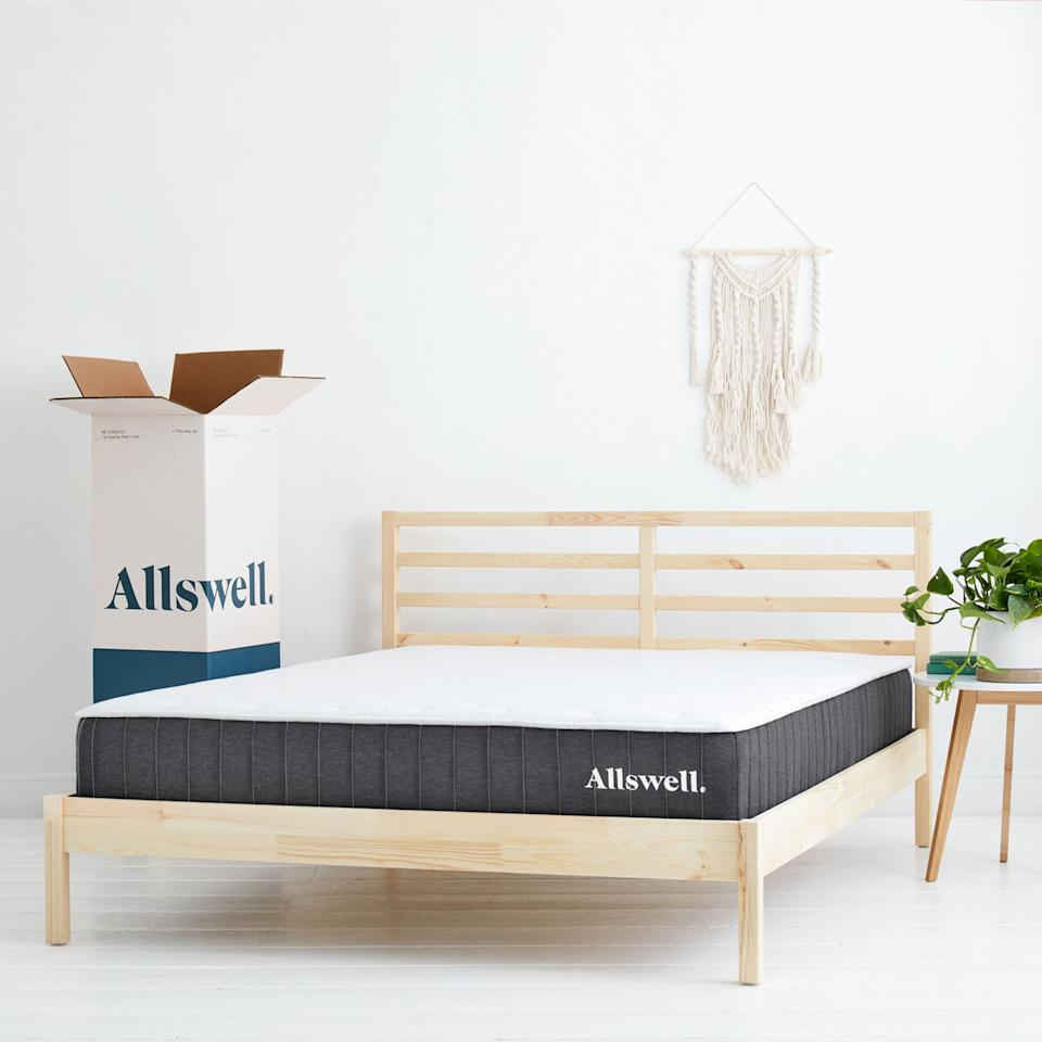 """<p><strong>Allswell</strong></p><p>walmart.com</p><p><strong>$299.00</strong></p><p><a href=""""https://go.redirectingat.com?id=74968X1596630&url=https%3A%2F%2Fwww.walmart.com%2Fip%2F800441934&sref=https%3A%2F%2Fwww.goodhousekeeping.com%2Fhome-products%2Fg35811627%2Fbest-cheap-mattresses%2F"""" rel=""""nofollow noopener"""" target=""""_blank"""" data-ylk=""""slk:Shop Now"""" class=""""link rapid-noclick-resp"""">Shop Now</a></p><p><strong><em><em>•</em></em> Height</strong><strong>:</strong> 10""""<br><em><em>•</em></em> <strong>Firmness levels</strong>: Medium Firm<br><em><em>•</em></em> <strong>Sizes:</strong> Twin, Twin XL, Full, Queen, King, California King </p><p><a href=""""https://go.redirectingat.com?id=74968X1596630&url=https%3A%2F%2Fwww.walmart.com%2Fbrowse%2Fallswell%2Fshop-allswell%2F4044_2114296_7416880%3Ffacet%3Dfacet_product_type%253AMattresses&sref=https%3A%2F%2Fwww.goodhousekeeping.com%2Fhome-products%2Fg35811627%2Fbest-cheap-mattresses%2F"""" rel=""""nofollow noopener"""" target=""""_blank"""" data-ylk=""""slk:Allswell mattresses"""" class=""""link rapid-noclick-resp"""">Allswell mattresses</a> are <strong>a favorite among our tester panel and this one is its cheapest model that doesn't skimp on quality. </strong>It has a coil base so you get support, airflow and that bouncy feel of a mattress, with a layer of foam on top to add comfort and pressure relief. Even the quilting on the outer cover helps it come across as more luxurious than its price suggests.</p><p>Owners of this mattress unanimously told us they were happy with their purchase. They gave it high ratings for everything from ease of delivery and set up to comfort, support and sleep quality. One described it as """"firm yet comfortable"""" while another said """"The price is highly worth it!""""</p><p>As a bonus, the mattress gets delivered in a box with free shipping and free returns (up to 90 days) so there's little risk in trying it out. </p>"""