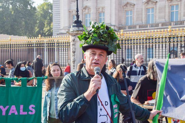Chris Packham at a protest earlier this week (Photo: SOPA Images via Getty Images)