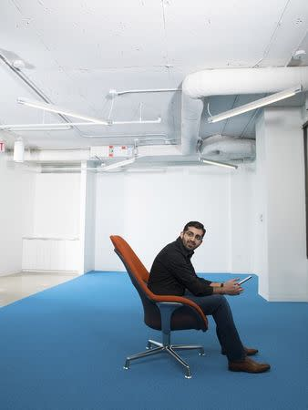 Undated handout photo shows Paul Singh, founder of Disruption Corp., in Crystal City, Virginia
