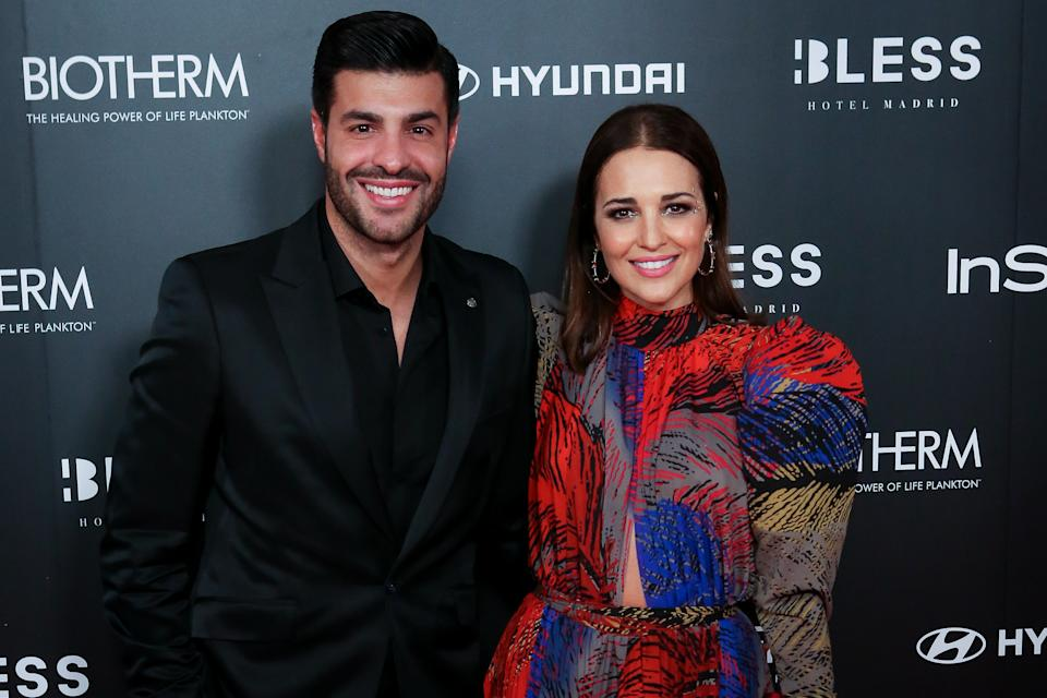 MADRID, SPAIN - DECEMBER 03: Spanish actress Paula Echevarria (R) and Miguel Torres (L) attend the InStyle 15th anniversary party at Bless Hotel on December 03, 2019 in Madrid, Spain. (Photo by Pablo Cuadra/Getty Images)