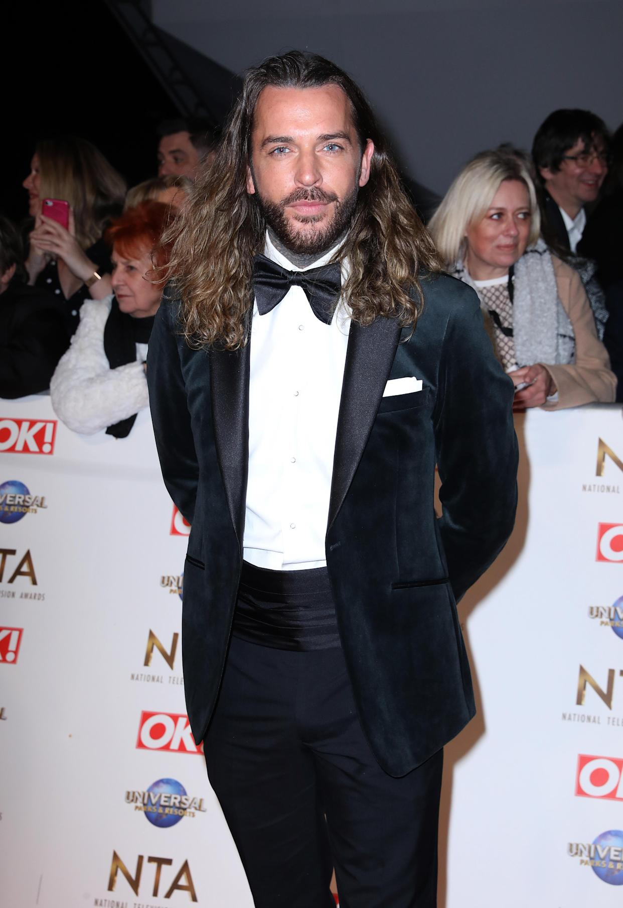 Pete Wicks attending the National Television Awards 2020 held at the O2 Arena, London.