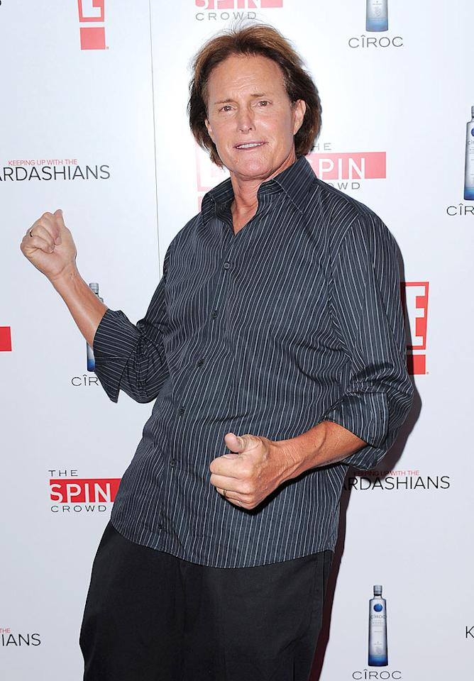 "Someone's a proud grandpa. ""Mason's crawling today!"" Bruce Jenner told Usmagazine.com of his stepdaughter Kourtney's 9-month-old, adding, ""He kind of shuffles on the ground, but he actually got up to his knees today and started crawling!"" Jordan Strauss/href=""http://www.wireimage.com"" target=""new"">WireImage.com - August 19, 2010"