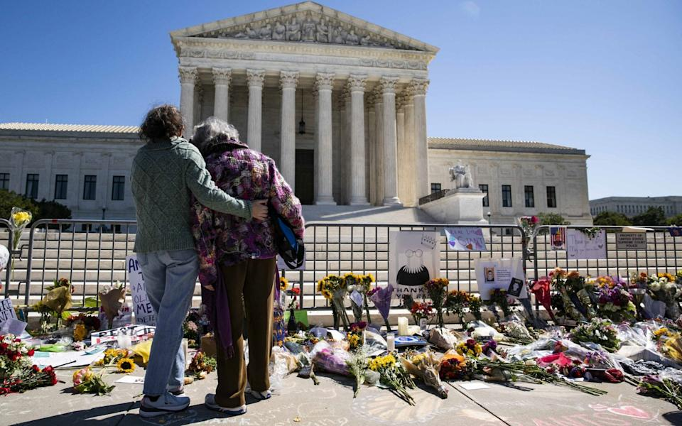 Bader Ginsburg's death has prompted an outpouring of grief - Alex Edelman/Getty Images North America