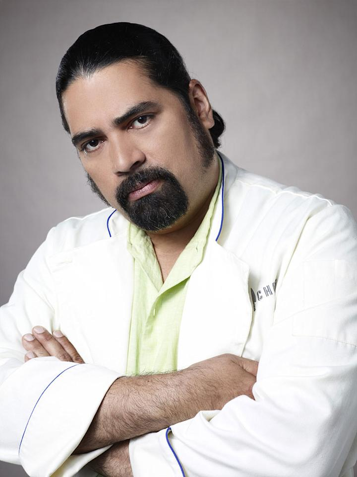 "Hector Santiago competes in the sixth season of <a href=""/top-chef/show/38481"">""Top Chef.""</a>"