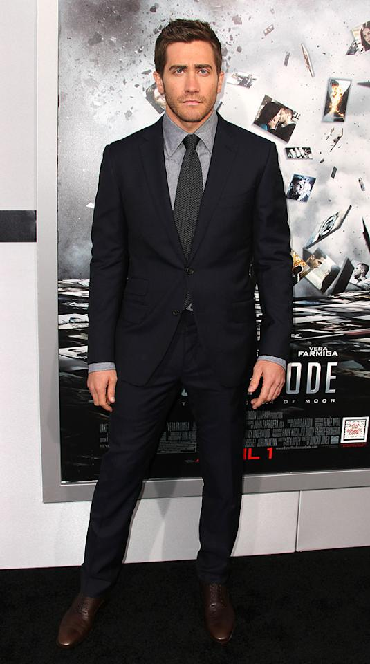 "<a href=""http://movies.yahoo.com/movie/contributor/1800019221"">Jake Gyllenhaal</a> attends the Los Angeles premiere of <a href=""http://movies.yahoo.com/movie/1810150340/info"">Source Code</a> on March 28, 2011."