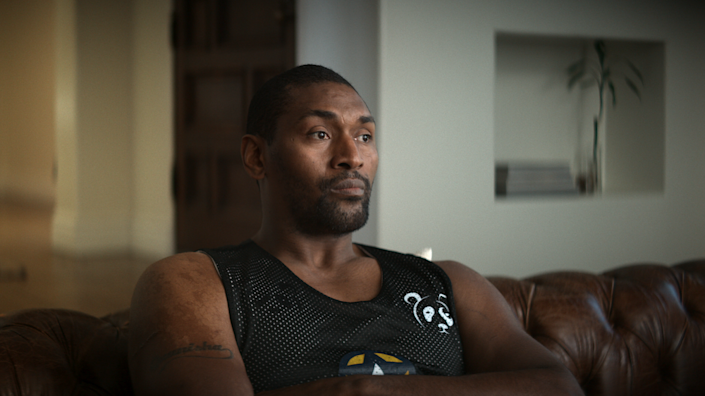 """Ron Artest in """"Untold: Malice at the Palace"""" - Credit: Courtesy of Netflix"""