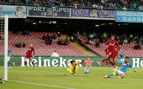 Lorenzo Insigne scores for Napoli - Credit: getty images