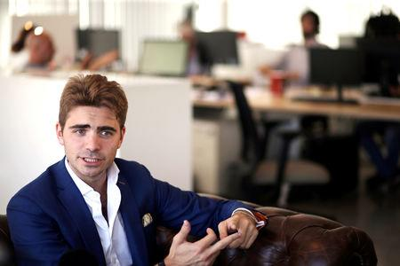 FILE PHOTO: Pierpaolo Barbieri, founder of Argentine mobile banking startup Uala,  at his company's offices in Buenos Aires, Argentina November 13, 2017. REUTERS/Marcos Brindicci/File Photo