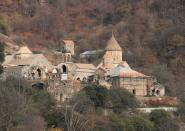 A view shows Dadivank monastery in Kalbajar district