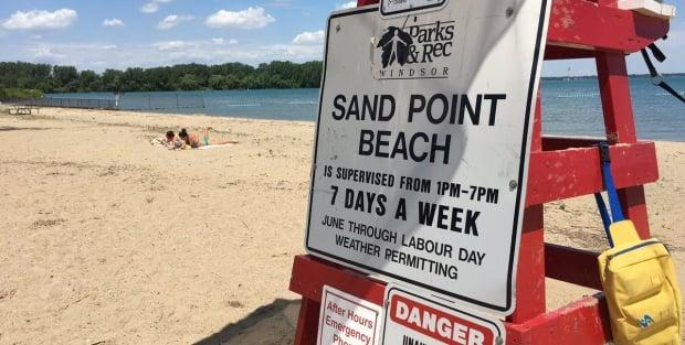 Windsor Police Services says a person was reported in the water at 5 p.m. Saturday evening.  (Meg Roberts/CBC - image credit)