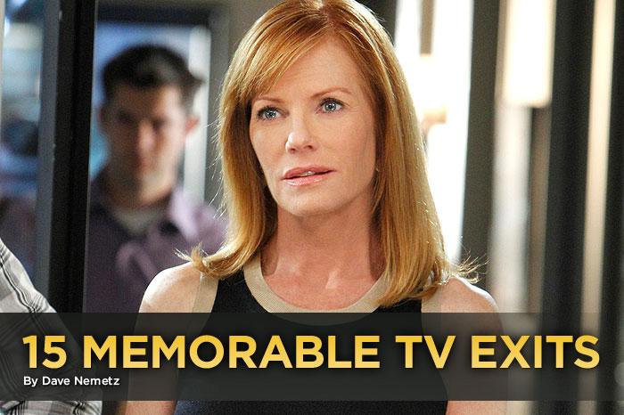 """<a href=""/csi-crime-scene-investigation/show/461"">CSI</a>"" says goodbye to one of its own this week when series star Marg Helgenberger leaves the Vegas crime lab after a stellar 12-season run. But she's not the first star to leave a hit show. (Heck, she's not even the first to leave ""CSI""; co-star William Petersen left the cast in 2009.) Marg's exit inspired us to look back at 15 of the most memorable star departures from top-rated TV series."