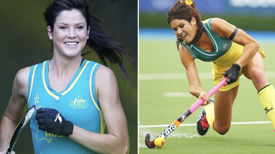 Anna Fanagan, pictured here in action for the Hockeyroos.