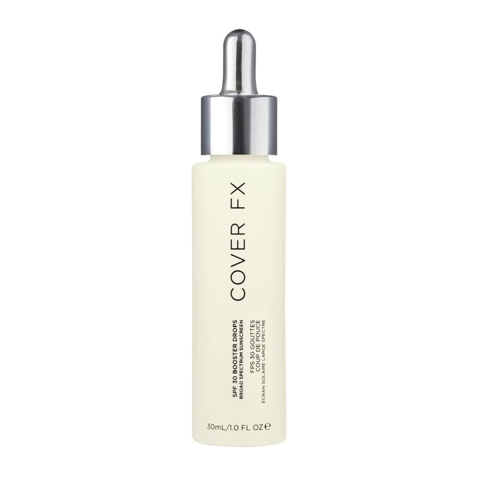"""Hate the feeling of sunscreen, but don't want to go without sun protection? CoverFX's lightweight SPF 30 drops can be mixed into your favorite formulas, whether it's a moisturizer, serum or primer. It can even be applied over makeup throughout the day without impacting your look to added protection.  <strong>Buy It!</strong><a href=""""https://www.coverfx.com/products/spf-30-booster-drops#full-description"""" target=""""_blank"""" rel=""""nofollow"""">CoverFX SPF 30 Booster Drops, $45; coverfx.com</a>"""